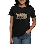 Brooklyn Graffiti Women's Dark T-Shirt