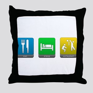 Eat, Sleep, Volleyball Throw Pillow