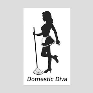 Domestic Diva Rectangle Sticker