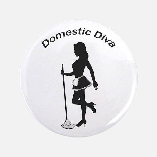"""Domestic Diva 3.5"""" Button"""