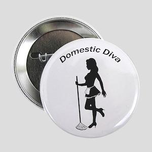 """Domestic Diva 2.25"""" Button"""