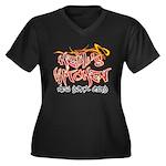 Hell's Kitchen Graffiti Women's Plus Size V-Neck D