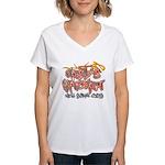 Hell's Kitchen Graffiti Women's V-Neck T-Shirt