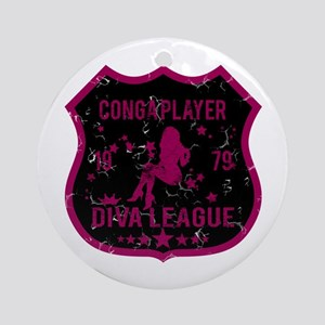 Conga Player Diva League Ornament (Round)