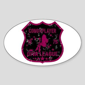 Conga Player Diva League Oval Sticker
