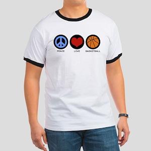 Peace Love Basketball Ringer T