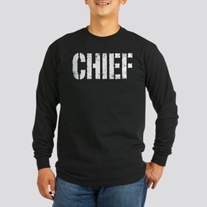 Chief white distressed print Long Sleeve T-Shirt