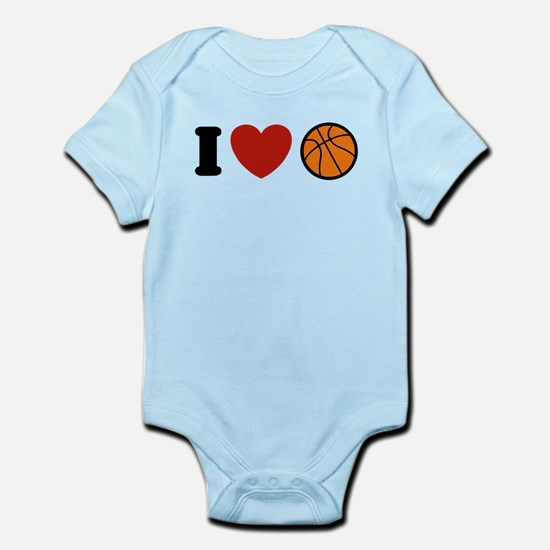 I Love Basketball Infant Bodysuit