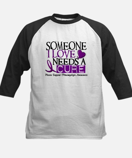 Needs A Cure FIBROMYALGIA Kids Baseball Jersey