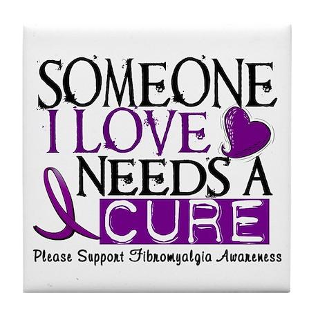 Needs A Cure FIBROMYALGIA Tile Coaster