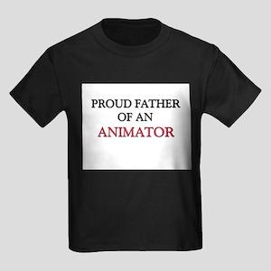 Proud Father Of An ANIMATOR Kids Dark T-Shirt