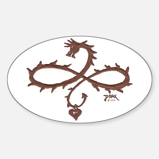 The Treasure Oval Decal