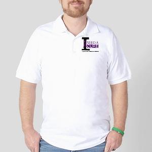 I Need A Cure FIBROMYALGIA Golf Shirt