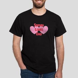 Sophia Loves Dad Dark T-Shirt