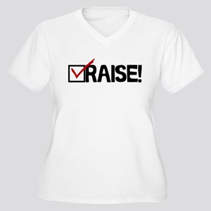 Check Raise Women's Plus Size V-Neck T-Shirt