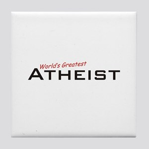 Great Atheist Tile Coaster