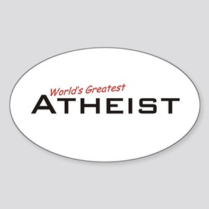 Great Atheist Oval Sticker