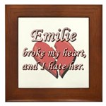 Emilie broke my heart and I hate her Framed Tile