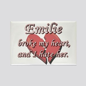 Emilie broke my heart and I hate her Rectangle Mag