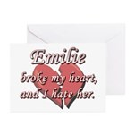 Emilie broke my heart and I hate her Greeting Card