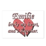 Emilie broke my heart and I hate her Postcards (Pa