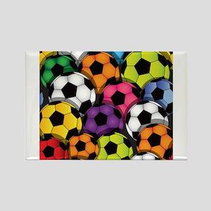 Colorful Soccer Balls Magnets