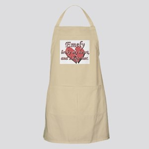 Emely broke my heart and I hate her BBQ Apron