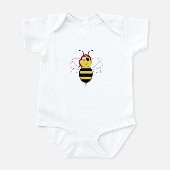 Arrr!Bee Bumble Bee Infant Bodysuit