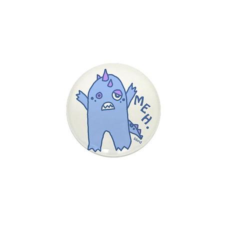 Blue Monster Mini Button