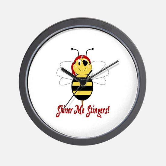 Shiver Me Stingers Wall Clock