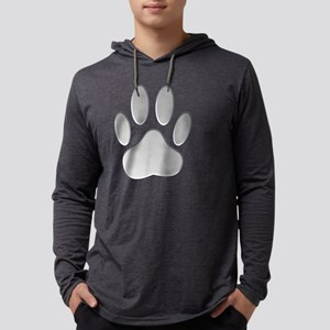 Metallic Dog Paw Print Long Sleeve T-Shirt