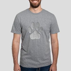 Metallic Dog Paw Prin T-Shirt