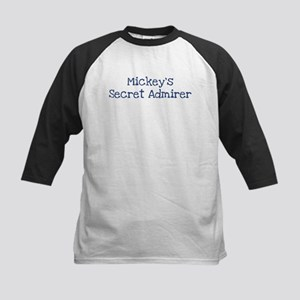 Mickeys secret admirer Kids Baseball Jersey