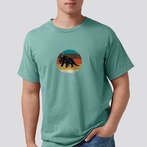 Retro Triceratops Dinosaur Circle Vintage T-Shirt