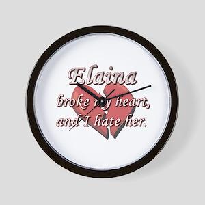 Elaina broke my heart and I hate her Wall Clock