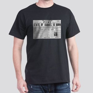 State of Israel is Born Headline Dark T-Shirt