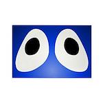 Blue Blob Eyes Rectangle Magnet
