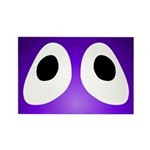 Purple Blob Eyes Rectangle Magnet
