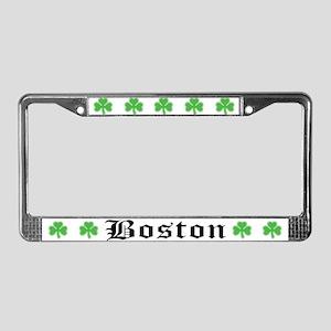 Boston on Shamrock License Plate Frame