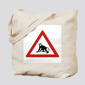 Watch Out For Monkeys, Saudi Arabia Tote Bag