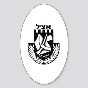 Irgun logo Oval Sticker
