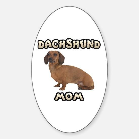 Dachshund Mom Sticker (Oval)