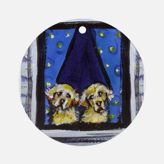 GOLDEN RETRIEVER window Ornament (Round)