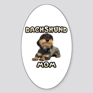 Wirehaired Dachshund Mom Sticker (Oval)