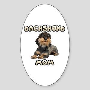 Wirehaired Dachshund Mom Sticker (Oval)
