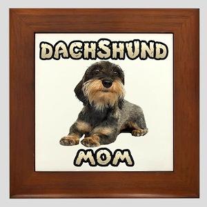 Wirehaired Dachshund Mom Framed Tile