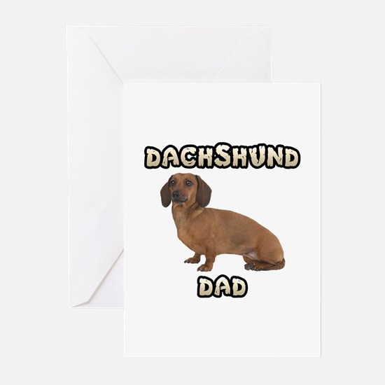 Dachshund Dad Greeting Cards (Pk of 20)