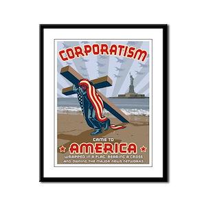 Corporatism Framed Panel Print