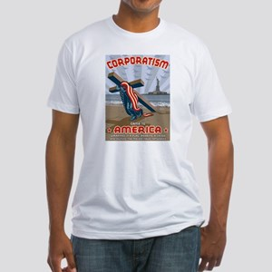 Corporatism Fitted T-Shirt