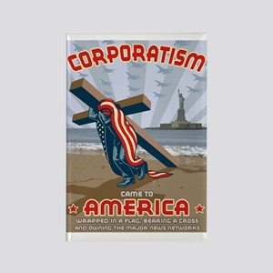 Corporatism Rectangle Magnet